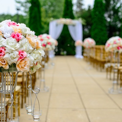 Decoración de jardín para boda