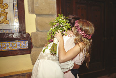 Entrega del ramo de novia